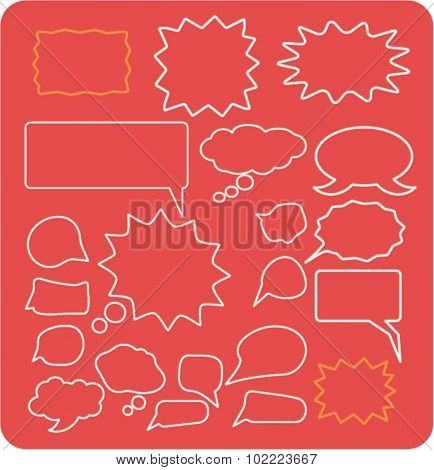 speech, chat icons