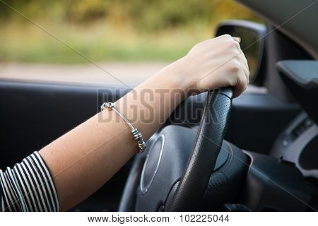 Lady Driver Hand