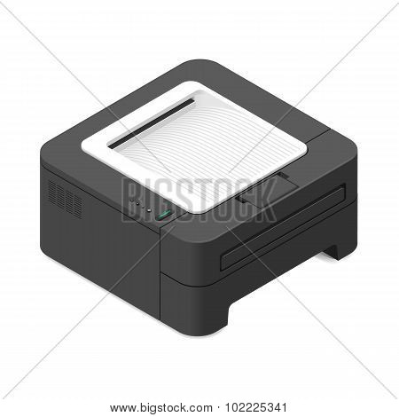 Multifunction Office Device Detailed Isometric Icon