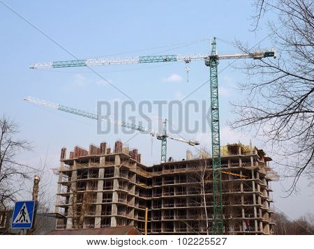House Develop At Day