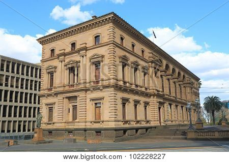 Historical Architecture Old Treasury Building Melbourne Australia