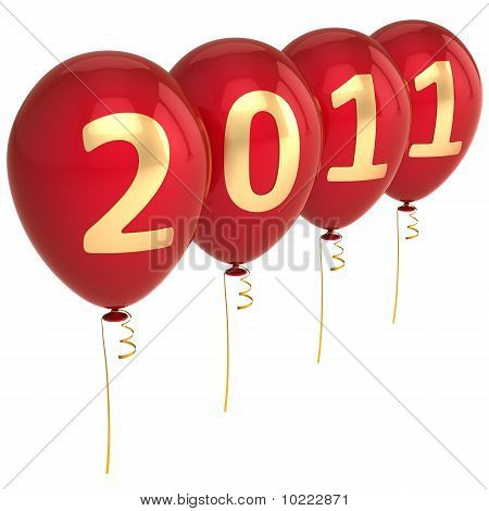 2011 New Year balloons
