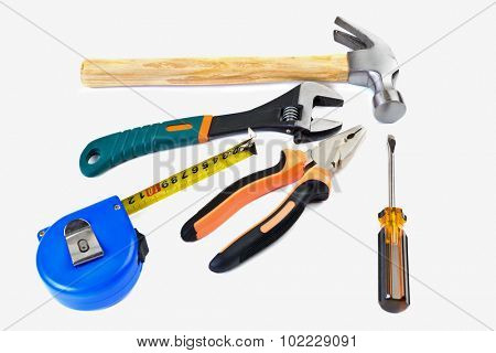 set tool isolated on a white background