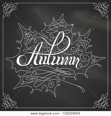 Chalk Autumn Calligraphy.