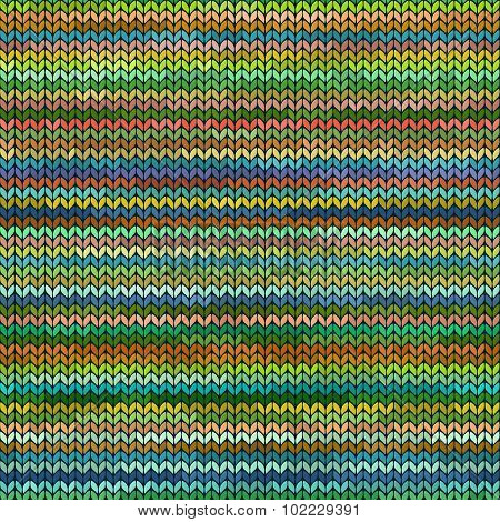Melange Knitted Seamless Pattern.