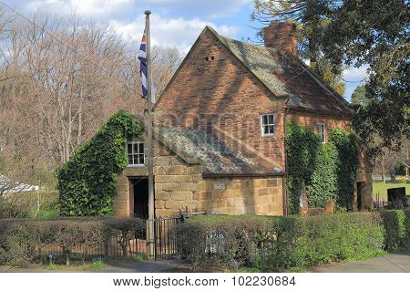 Historical building Cook's cottage Melbourne Australia