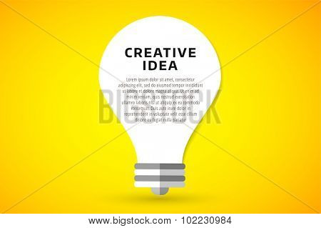 Bulb lamp light idea vector background illustration. Lamp creative idea concept. Braistorm concept with light bulb lamp isolated on background. Lamp, idea, creative, concept, design, vector
