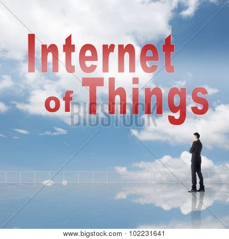 Concept of IOT, internet of things.