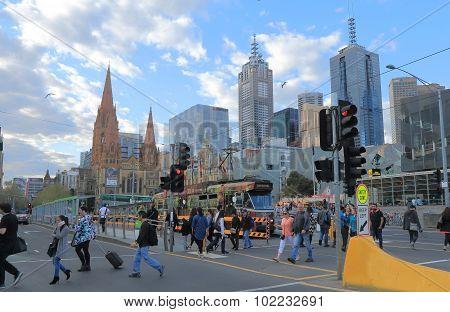 Melbourne cityscape tram Australia