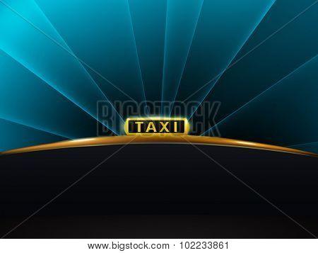 vector taxi sign