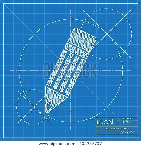 Vector pencil icon. Eps10