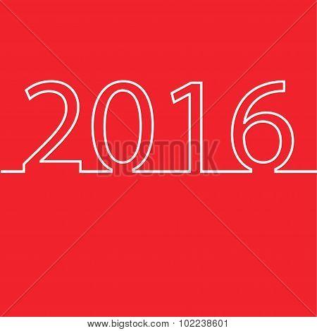 Happy New Year 2016 design card vector