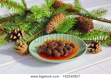jam from fir cones