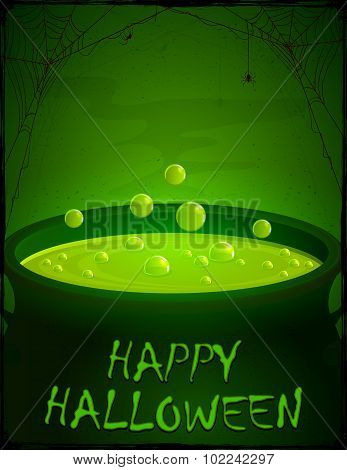 Halloween Pot With Green Potion