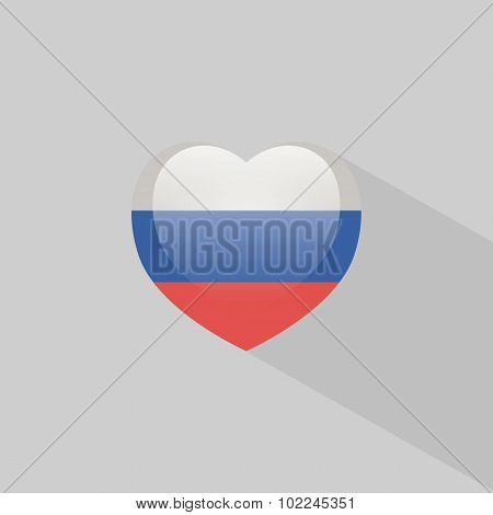 Love Russia Symbol With Shadow
