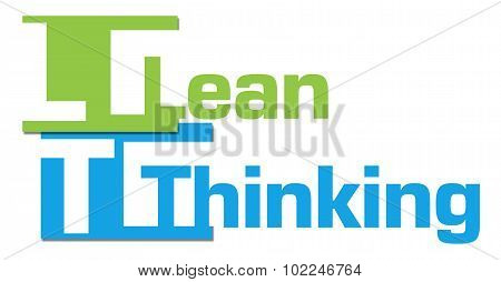 Lean Thinking Abstract Colorful Stripes
