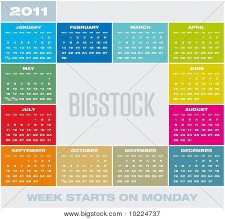 Vector Calendar 2011