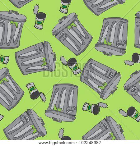 garbage seamless pattern