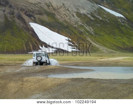 Off-road Vehicle In Iceland