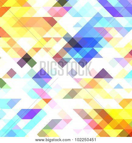 Abstract triangle pattern