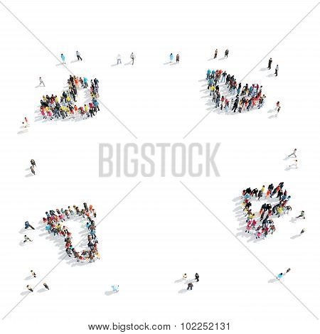 people  crowd  shape cartoon
