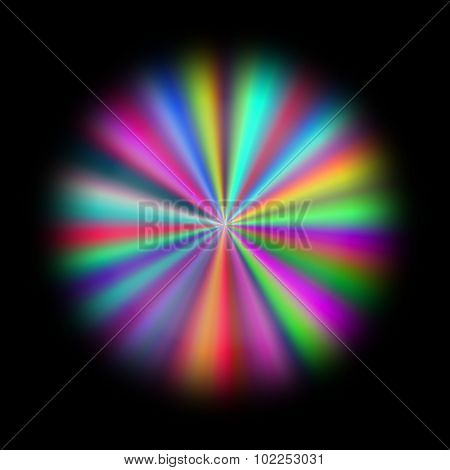 Full Spectrum Rainbow Abstract Flower Pattern Texture