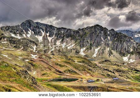View Of The Pyrenees Near Port D'envalira Mountain Pass - Andorra