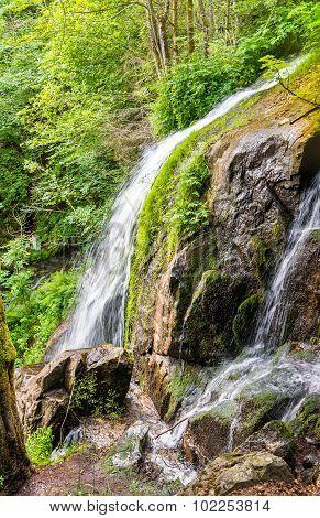 Cascade Du Kreuzweg, A Waterfall In The Vosges - France, Bas-rhine