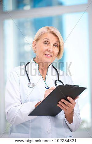 Concept for senior female doctor