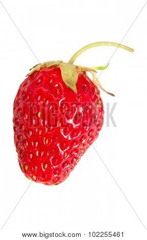 red strawberry isolated on white