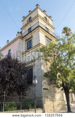 Exterior View Of The Jerez De La Frontera Alcazar