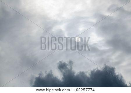 Dark sky before the rain