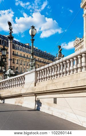 West Facade Of Grand Opera (opera Garnier), Paris, France
