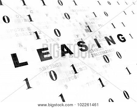 Finance concept: Leasing on Digital background