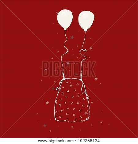 Sketch - dot blouse + balloons