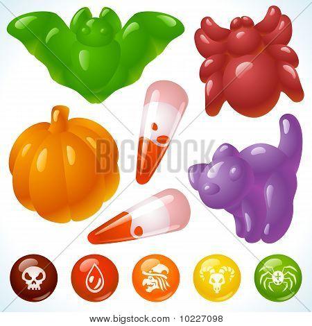 Comida de Halloween. Creepy golosinas y come sabroso