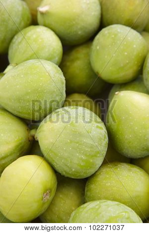 Fresh Green Figs Detail