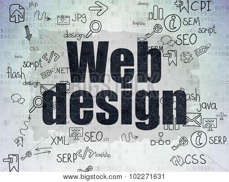 Web design concept: Web Design on Digital Paper background