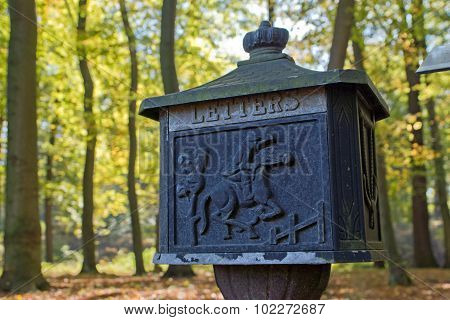 Old mailbox in natural environment