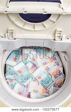 Malaysia Currency In Washing Machine