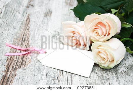 Roses With A Card