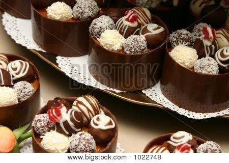 Tower Of Wedding Miniature Desserts.