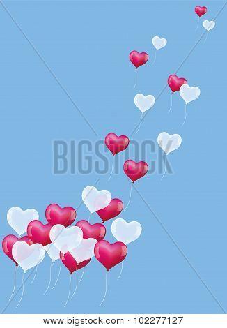 Heart Balloons Ascending
