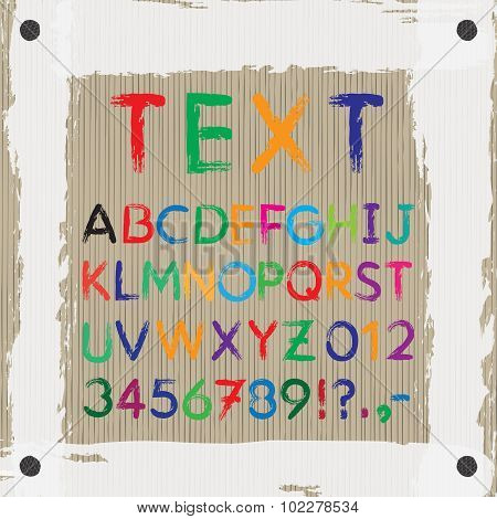 Board For Text And Images. Font. Alphabet.