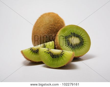 Kiwi fruit isolated.