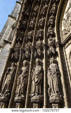 Holys On The Main Portal On The Cathedral Of Our Lady In Antwerp