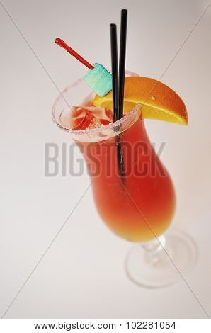 Cocktail Sex On The Beach  Isolated On A White Background