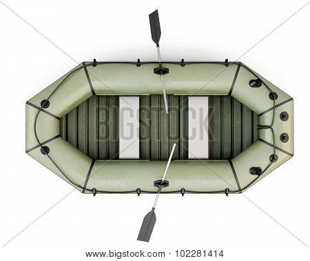 Inflatable Boat Top View