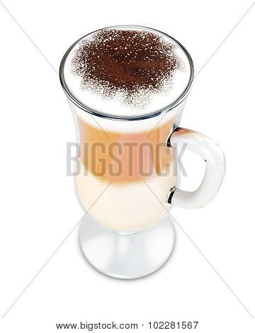 Glass Of Latte Coffee
