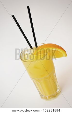 Cocktail Vikrutka Vodka Juice,  Isolated On A White Background